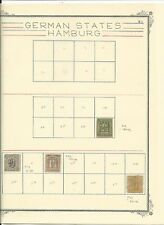 Hamburg Collection on 2 Scott Specialty Pages, #12, 13, 21, 22, 24, 24a, 25, 26