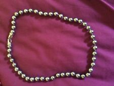 Lovely Knotted Grey Pearl Necklace