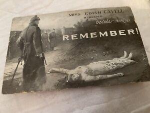 WW1 Field Censor Passed Postcard Edith Cavell - Local Interest Ramsgate