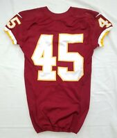 #45 No Name of Washington Redskins NFL Locker Room Game Issued Worn Jersey