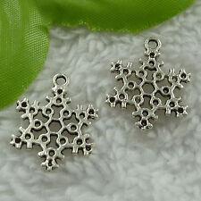 free ship 130 pcs tibet silver snowflake charms 23x17mm #2697