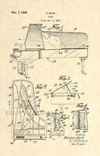 Official Steinway Piano US Patent Art Print - Vintage 1938 - Stunning Antique 70