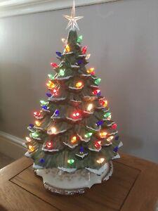Illuminated Ceramic Christmas Tree GREEN