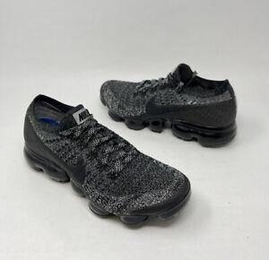 Nike Womens Air Vapormax Flyknit Oreo Black White Grey Size 7 849557-041