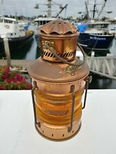 Vintage Ankerlicht Anchor Light Lantern In Rare Yellow Color
