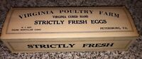 Vintage Egg Carton Box Virginia Poultry Farm NOS Petersburg VA Strictly Fresh