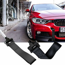Black Racing Tow Strap Hook For BMW F07 F10 F15 F30 F32 F80 F82 2012-2019