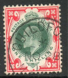 GB ED7TH SG259 SPEC M46(4) 1/- Deep Dull Green and scarlet CDS Cat £55 (1)