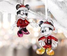 swarovski Disney Minnie + Mickey Mouse Christmas  Ornament     5004687   5004690