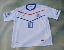 Nike 2010 Fifa Netherland National Soccer Team Wesley Sneijder #10 Jersey Size L