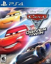 Cars 3: Driven to Win (Sony PS4, 2017). Like new. Never been out of case.