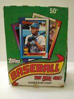 1990 Topps Baseball Wax Box 36 Packs Ken Griffey Jr Frank Thomas Rookie