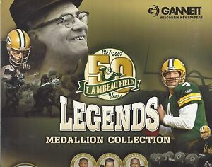 Green Bay Packers 2007 Legends Autographed Medallion Collection