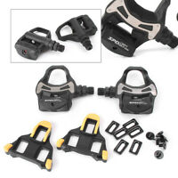 PD R550 SPD SL Pedal Clipless Road Bike Pedals + 6° Float Cleats Bicycle Black