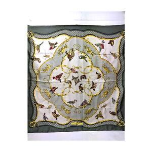 Hermes scarf  Carre 90   Greens Silk100% 1522666