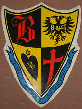 """Vintage 80's Santa Cruz Speed Wheels Bullet Shield/Crest Sticker~10""""x8"""""""