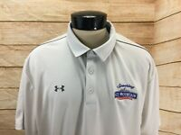 Under Armour Polo Shirt Men's 3XL White Ice Mountain Water Loose