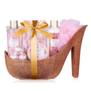 Wellness & Beauty Geschenkset für Frauen, Körper-Pflegeset Damenschuh / Stiletto