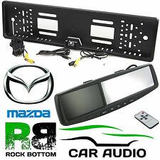 "MAZDA 4.3"" Rear View Reversing Mirror Monitor & Car Number Plate Camera Kit"