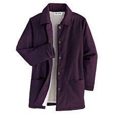 NWT Ladies BLAIR Corduroy Fleece Pile Lined JACKET Coat L Blackberry Wine Purple
