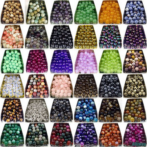 Series I lot natural gemstone spacer loose beads 4mm 6mm 8mm 10mm 12mm stone DIY
