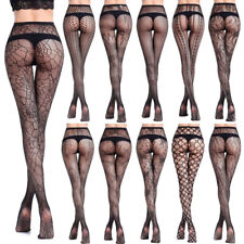 Women Lady Sexy Black Socks Lace Fishing Net Mesh Thigh High Stay Up Over Knee