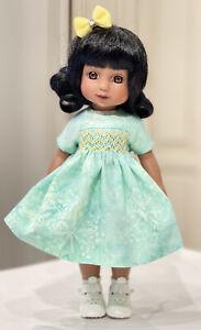 "10"" Doll Boneka Tuesday Child Mint Smocked Dress 24cm Fits Ann Estelle Patsy"