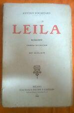 LIBRO ANTONIO FOGAZZARO - LEILA - 3° EDIZIONE BALDINI & CASTOLDI  EDITORE 1920