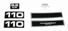 Mercury Marine 9.8 hp 110 Outboard OB Decal Set 6pc. OEM Vintage
