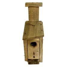 Birdhouse vintage rustic primitive style handmade wooden outdoor yard garden