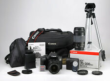 Canon 800D DSLR Twin Lens Kit + (18-55mm & 75-300mm) WiFi + 60p HD - 2,209 Shots