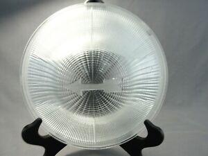 Vintage Holophane Industrial Light Glass Shade Lens Point Along Hall Prismatic