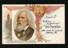 Literature TENNYSON Tuck Art Card #482 u/b Chromo Litho PPC c1900