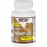 Deva Nutrition Vegan Hemp Oil Capsules, 90 Count