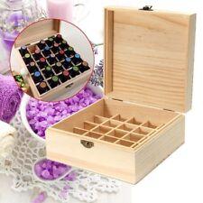25 Slot Essential Oil Bottle Wooden Storage Box Wood Aromatherapy Organizer Case