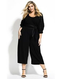 CITY CHIC Stitched Up Black Jumpsuit Size S BRAND NEW!!!