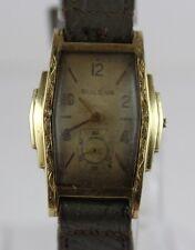 Vintage 1937 Bulova Stepped Case 10AE 17 Jewels Manual Wind Watch LOT#0124