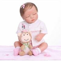 19inch Realistic Reborn Soft Full Body Silicone Doll Lifelike Sleeping Baby Girl