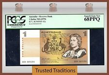 TT PK 42c 1979 AUSTRALIA 1 DOLLAR QUEEN ELIZABETH PCGS 68 PPQ FINEST KNOWN