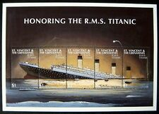 1997 MNH ST VINCENT TITANIC STAMPS SHEET CRUISE SHIP BOAT MOVIE OCEAN MARINE