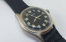 RARE USED VINTAGE ZENITH PILOT BLACK DIAL MANUAL WIND MID SIZE WATCH