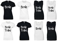 BRIDE TRIBE Ladies T-Shirts & Vests - Hen Do Wedding Party Squad Printed Tops