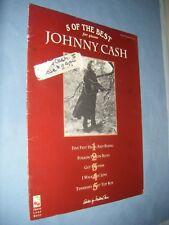 SHEET MUSIC 5 of the Best JOHNNY CASH for Piano Vocal Guitar Folsom I Walk Line