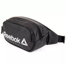 REEBOK XENON BLACK PU FANNY PACK WAIST BAG  UNISEX RETRO 90s NEW