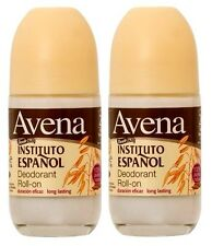 2 x AVENA Oatmeal Roll On Deodorant By Instituto Espanol / Desodorante De Avena