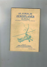 AN ALBUM OF AEROPLANES (CIVIL) John Player - complete set of cards NICE!