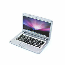 Accessories Miniature Dollhouse laptop Computer Apple Macbook Air  Size Silver