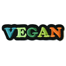 Vegan Iron On Patch Embroidered Sew On Animal Rights