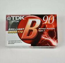 TDK B-90 NORMAL POSITION TYPE I - BRILLIANT CASSETTE BLANK TAPE -