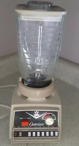 OSTER Osterizer Imperial 14 Speed Blender Model 855 Touch-A-Matic Glass Decanter